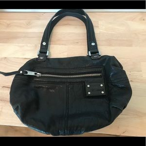 L.A.M.B. Black leather Josephine Black hobo bag